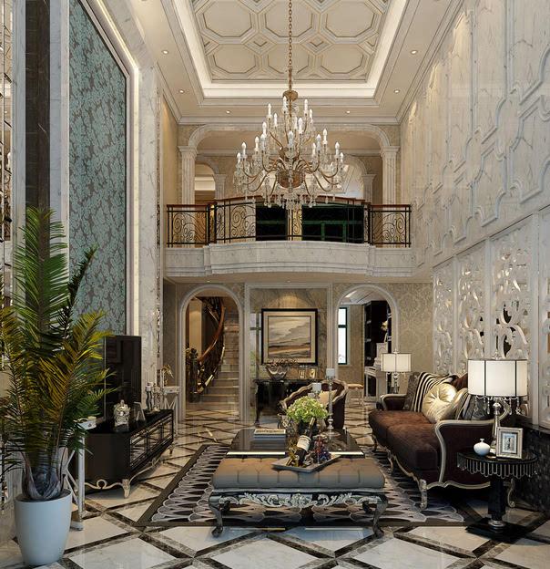 复式楼装修风格之欧式典雅型 欧式典雅型,追求的是大气,高雅.