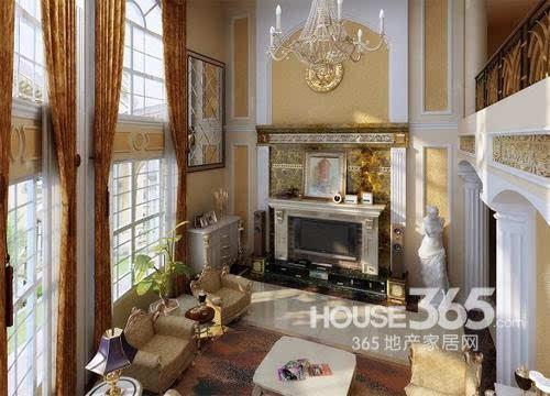 欧式客厅地砖效果图:金碧辉煌的欧式家居