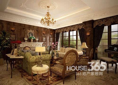 欧式客厅地砖效果图:古朴之然的欧式家居