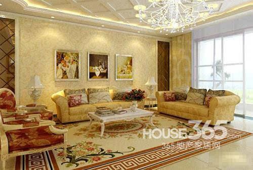 欧式客厅地砖效果图:梦中的欧式家居
