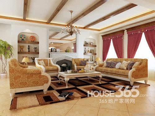 欧式客厅地砖效果图:奢华大气的欧式家居