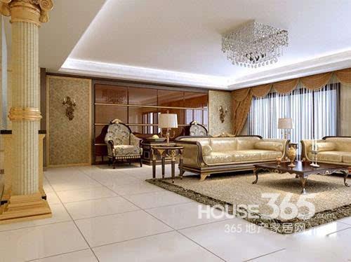 欧式客厅地砖效果图:细节优质的欧式家居