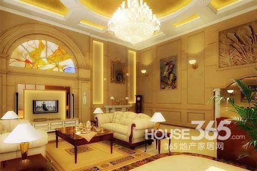 欧式客厅地砖效果图:大气豪放的欧式家居