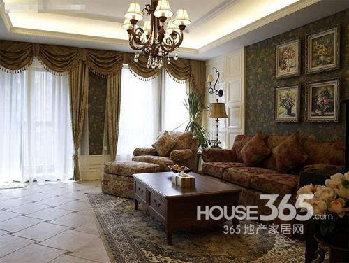 欧式客厅地砖效果图:大气恢弘的欧式家居