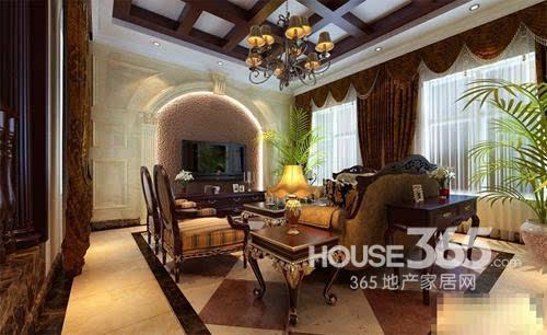 欧式客厅地砖效果图:低调奢华的欧式家居