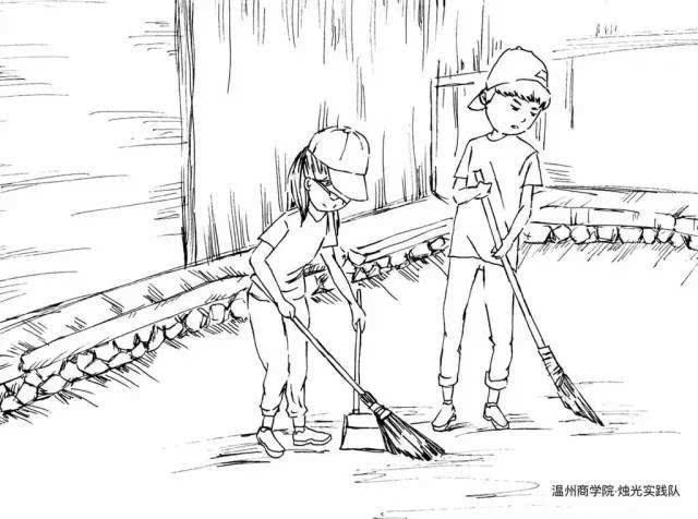 挑水种田扫地 温州一女生用漫画记录实践每一刻