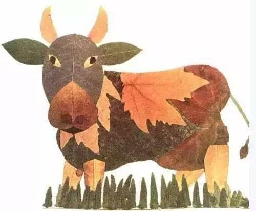 教孩子制作精美的树叶画吧
