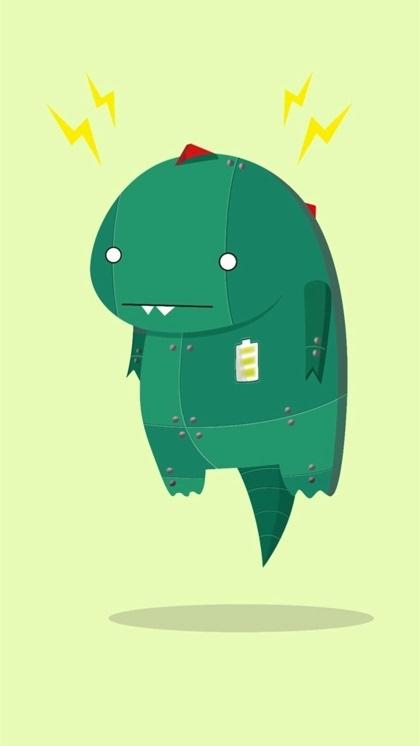 超萌可爱小恐龙卡通图片高清壁纸