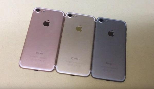 iPhone 7模型机展示视频曝光:有太空灰、土豪金和玫瑰金的照片
