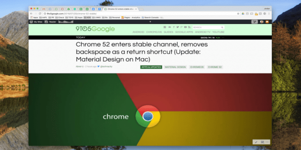 Mac版Chrome 52:更多Material Design元素的照片 - 1