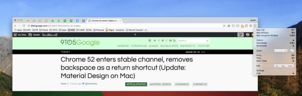 Mac版Chrome 52:更多Material Design元素的照片 - 2
