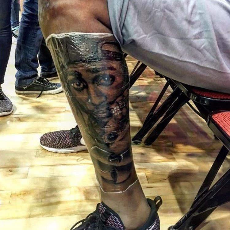 杜兰特再添新纹身致敬说唱歌手tupac
