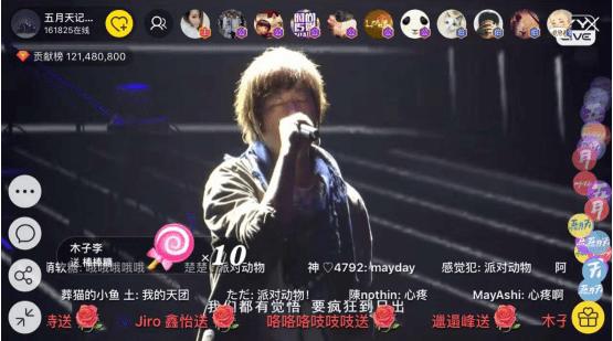 间五月天_yy live直播间的五月天字样氛围灯