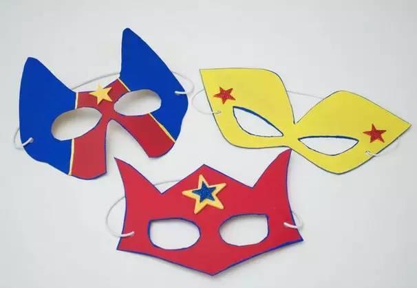 万圣节超级英雄面具套装手工制作图解教程