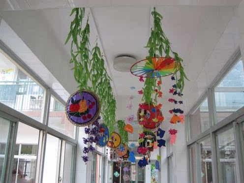 幼儿园新学期走廊吊饰环境布置!留着做参考!