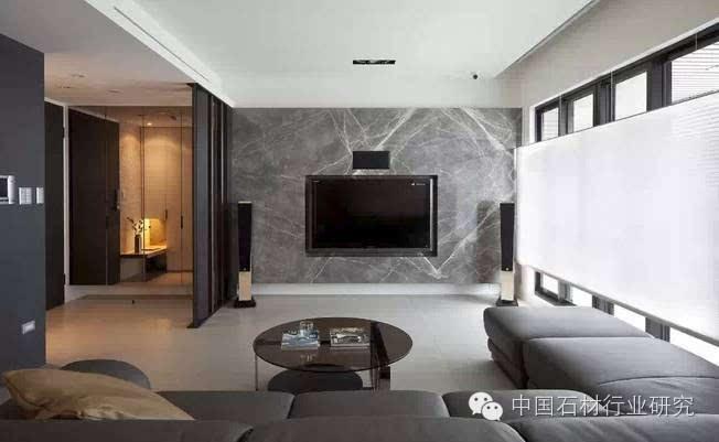 简约时尚的大理石电视背景墙