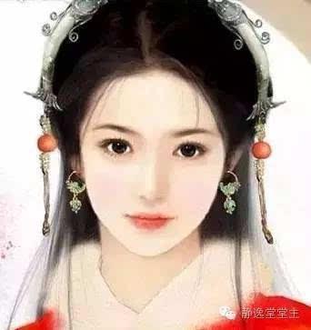手绘古典优雅美女