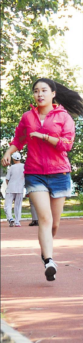7时 林婉婷坚持每天跑步.图片