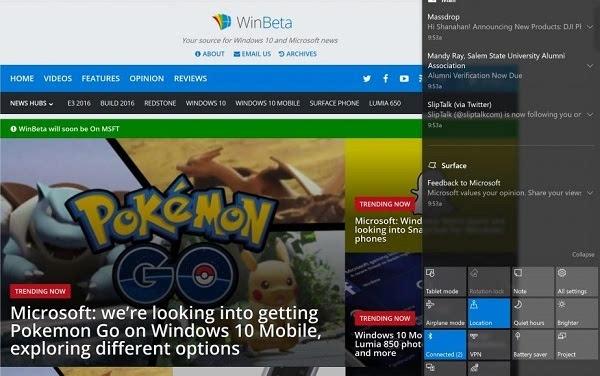 Windows 10周年更新:操作中心将迎来哪些变化?的照片 - 2