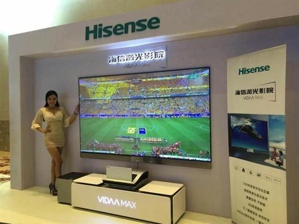 海信全球首发4K激光电视:不需遮光便可观看的照片