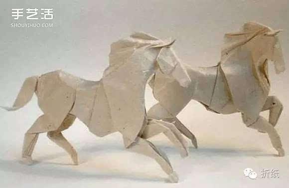 手工折纸马图解教程 立体马的折法详细步骤图