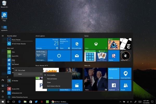 Windows 10周年更新:详解开始菜单的那些改善的照片 - 2