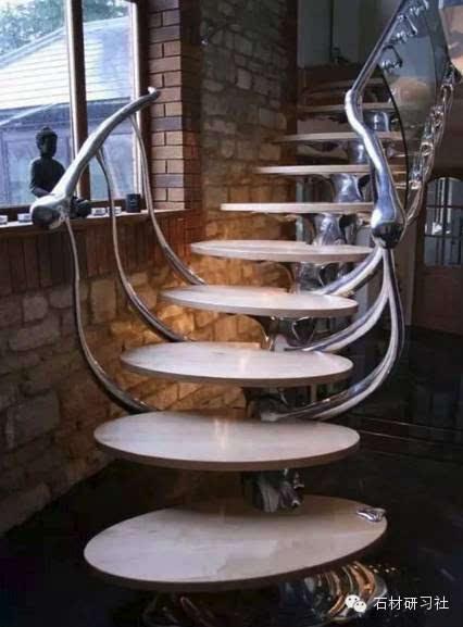 别墅豪宅酒店大理石旋转楼梯大全