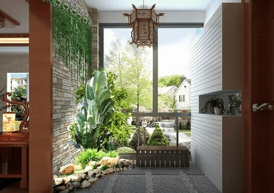唯妙唯俏 高层入户花园装修效果图