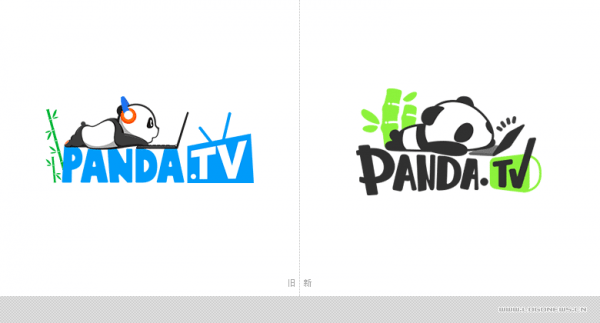 """在线直播平台""""熊猫tv""""更换logo"""