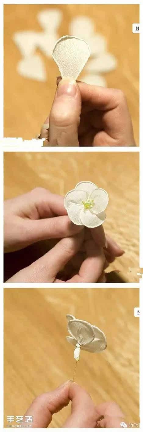 素雅山茶花的折法图解 皱纹纸山茶花折纸教程