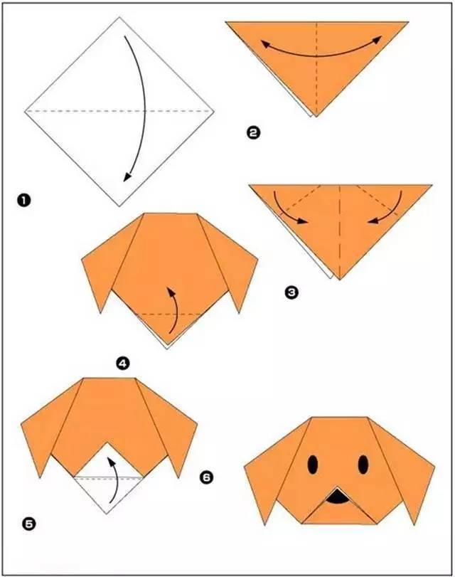 儿童手工折纸雨伞步骤图解