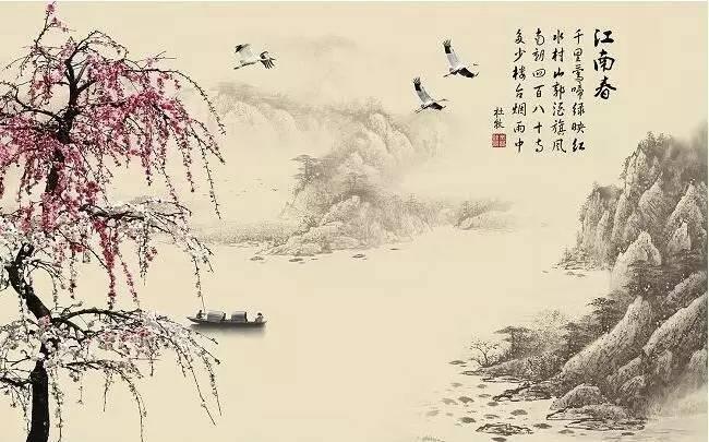 古诗江南简笔画