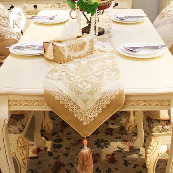 欧式奢华餐桌旗 长桌布茶几布柜旗