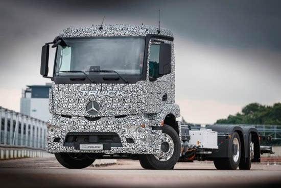 奔驰推出纯电动重型卡车Urban eTruck的照片 - 2