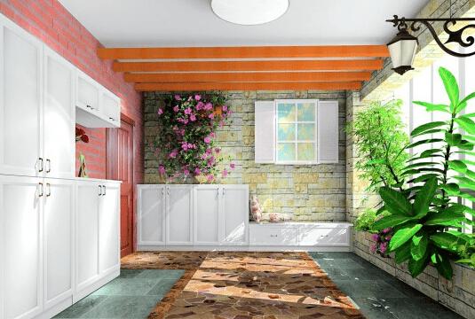 三室两厅入户花园装修效果图