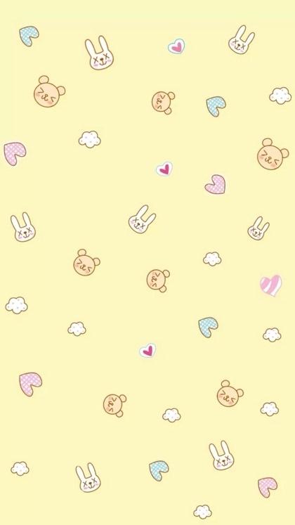 简单可爱卡通小动物高清手机壁纸