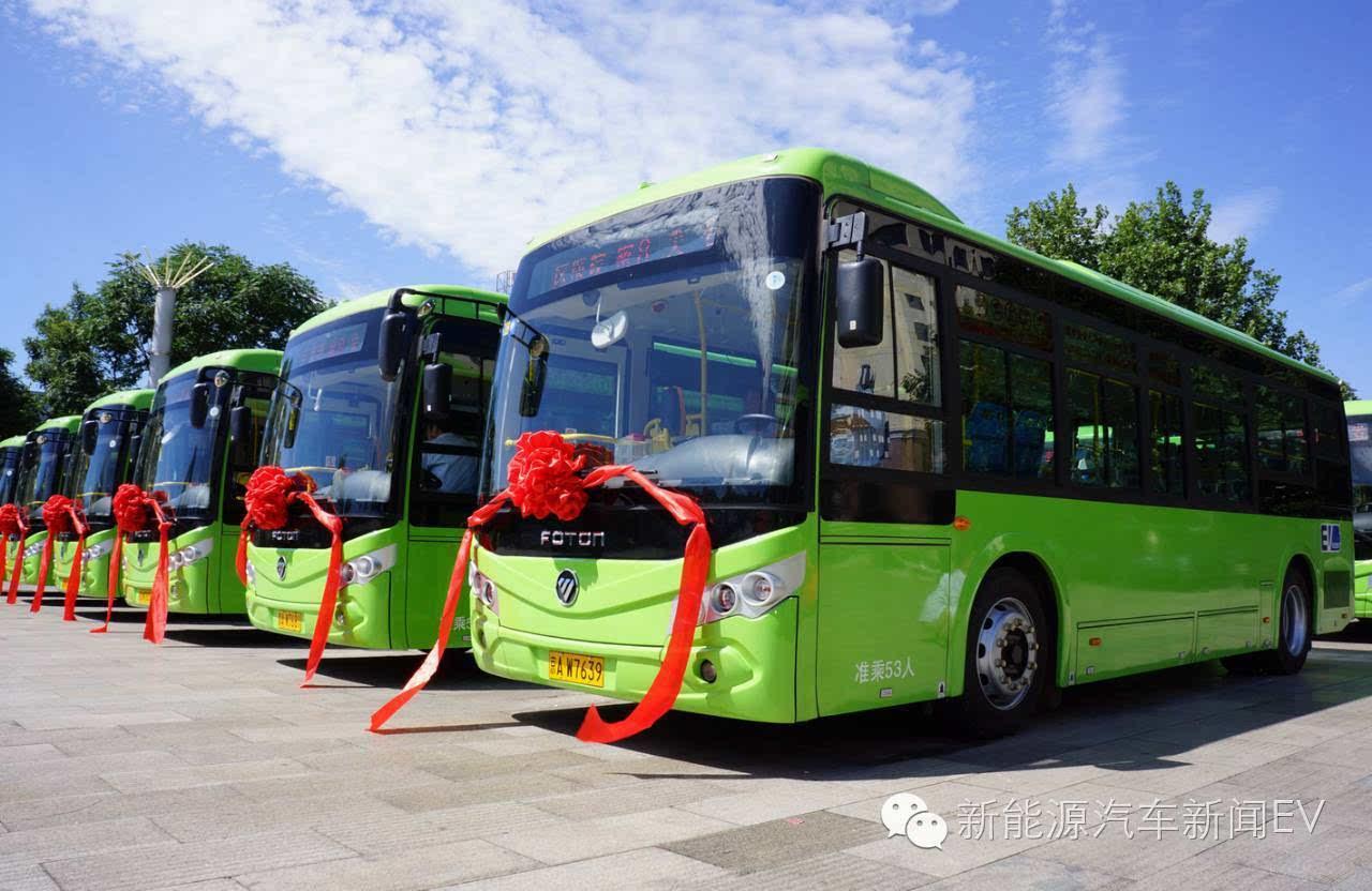 公共汽车审验表设备号-密云首批纯电动公交车上路运行高清图片