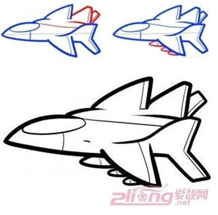 教宝宝画飞机,各种飞机的画法步骤图