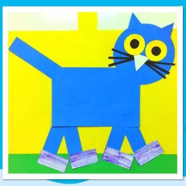 幼儿园创意几何图形小手工,带孩子一起来玩吧
