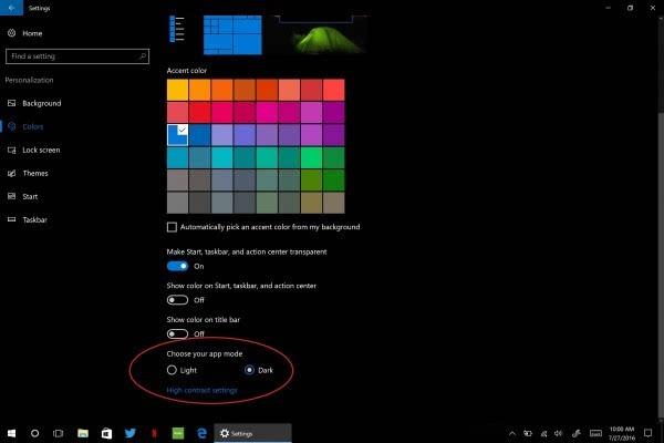 Windows 10周年升级:暗黑模式和键盘emoji表情体验的照片 - 1