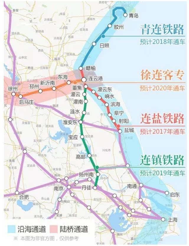 2017年 盐城至南通铁路开工 沿海高铁大通道现雏形