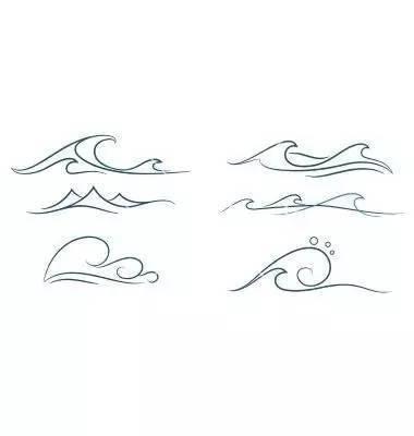 海浪怎么画简笔画图片