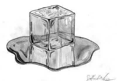 雪糕融化手绘图片