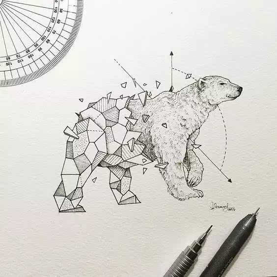 手绘动物插画 二