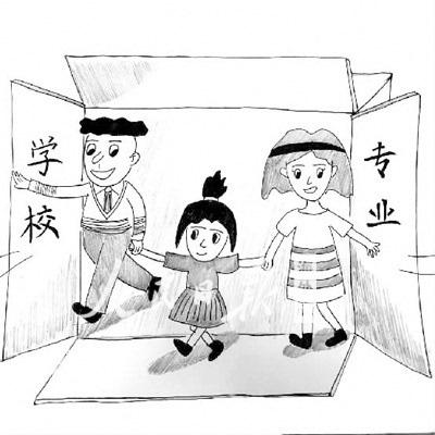 家庭阅读海报图手绘