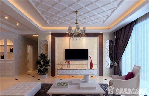 2016简欧式客厅背景墙装修效果图