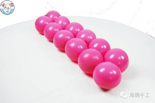 的可爱粉嫩气球小猪彩球造型做法图解