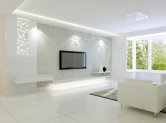个性化追求客厅电视机背景墙效果图图片