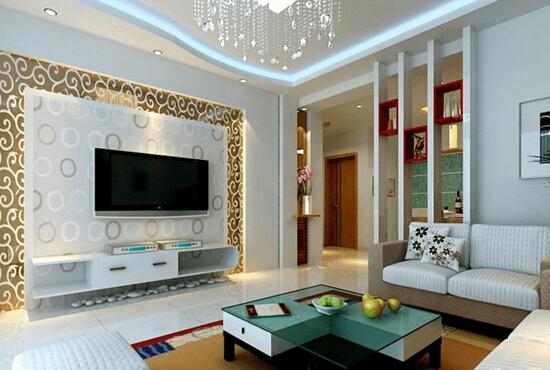 客厅电视机背景墙效果图四   如果客厅光线不太好,建议可以用亮色的板材烤漆或者玻璃做背景墙的材料,不仅有增强采光的作用,看上去还极具现代感。电视背景墙的灯光布置,多以主要饰面的局部照明来处理,还应与该区域的顶面灯光协调考虑,灯壳尤其是灯泡都应尽量隐蔽为妥。   电视机背景墙就是客厅风格的体现,所以设计师在设计之初,最先考虑的就是背景墙的风格如何与客厅整体风格匹配,特别是家具,最好能在提升整体风格的前提下突出主人的个性化追求。 设计客厅电视机背景墙能够极大的提升家居品味,彰显高品质的生活态度。