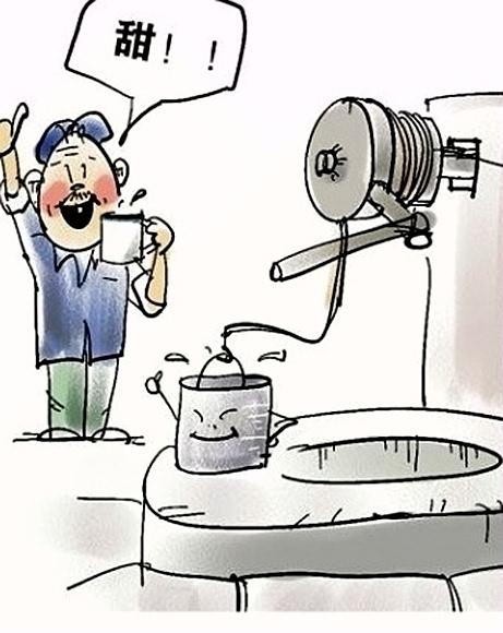 农村饮水安全 漫画自网络